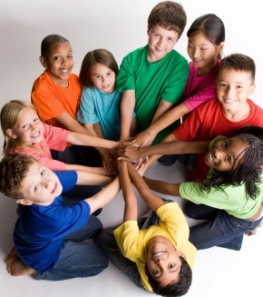 importance of friendship - group of kids