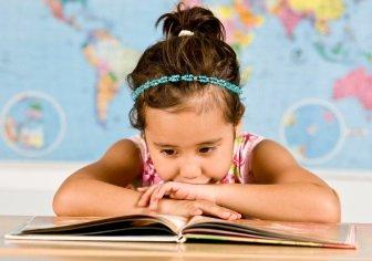 Girl Reading Childrens educational Book